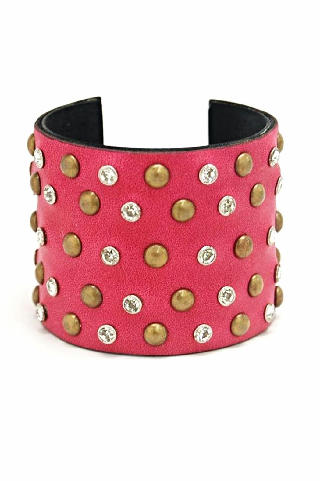 Made It! Leather Bling Cuffs - Front Cropped Image