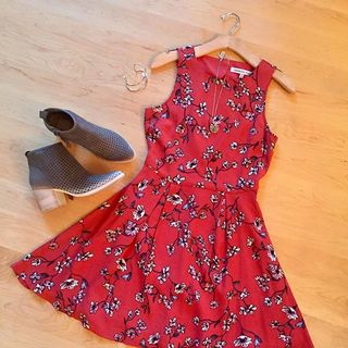 Shoptiques Red Floral Dress