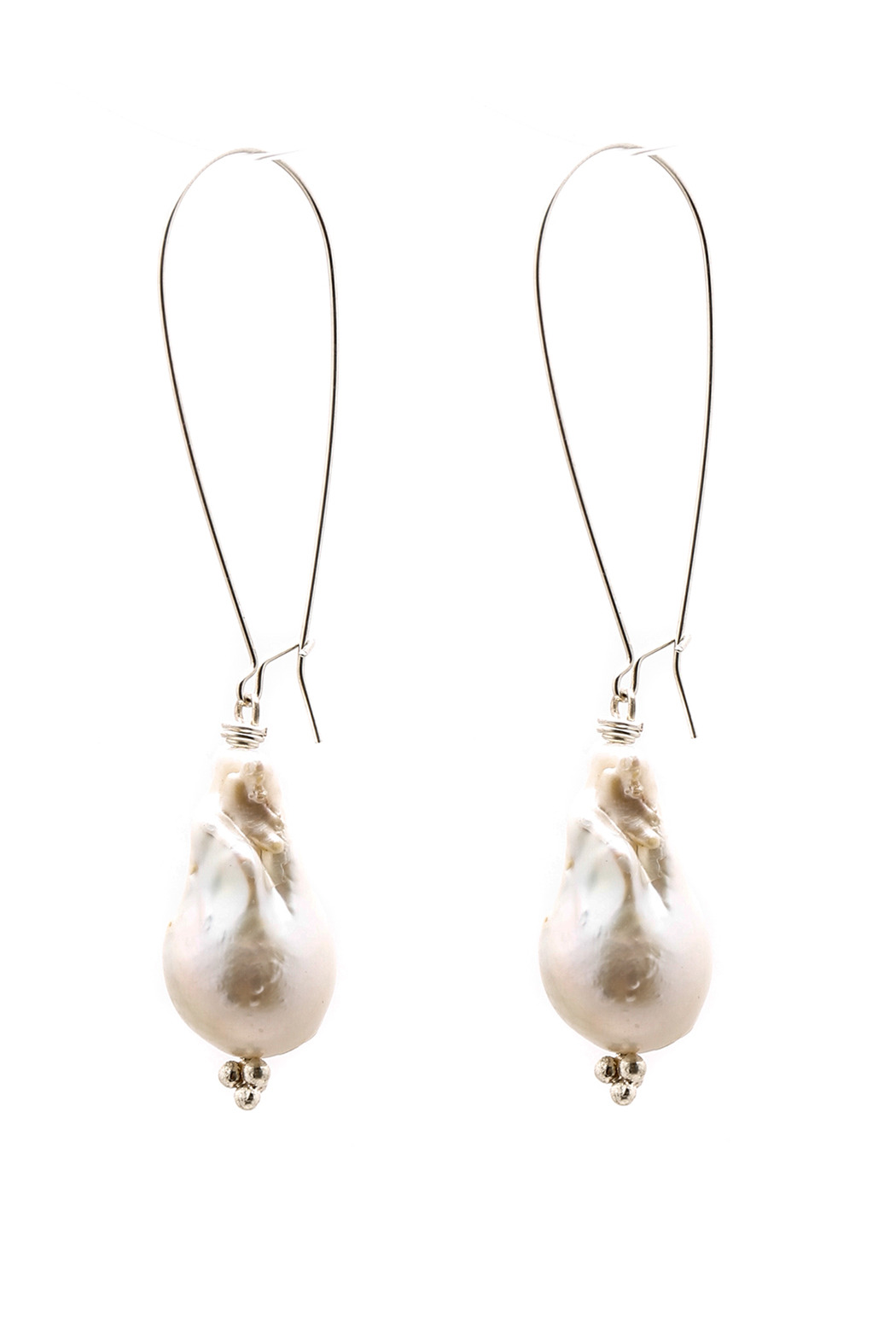 ZIA Boutique Baroque Pearl Earrings - Front Cropped Image