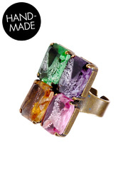 Shoptiques Product: Multi-Colored Jeweled Ring
