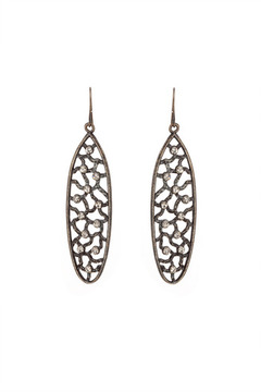 Rebel Designs Oval Crystal Earrings - Alternate List Image
