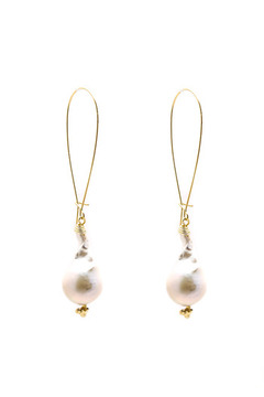 Shoptiques Product: Baroque Pearl Earrings