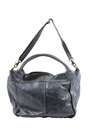 NU New York Pleated Leather Bag - Front cropped
