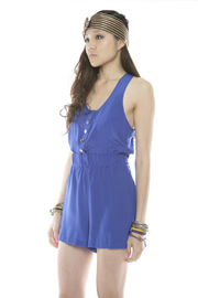 Shoptiques Product: Tie-Waist Silk Romper - Side cropped