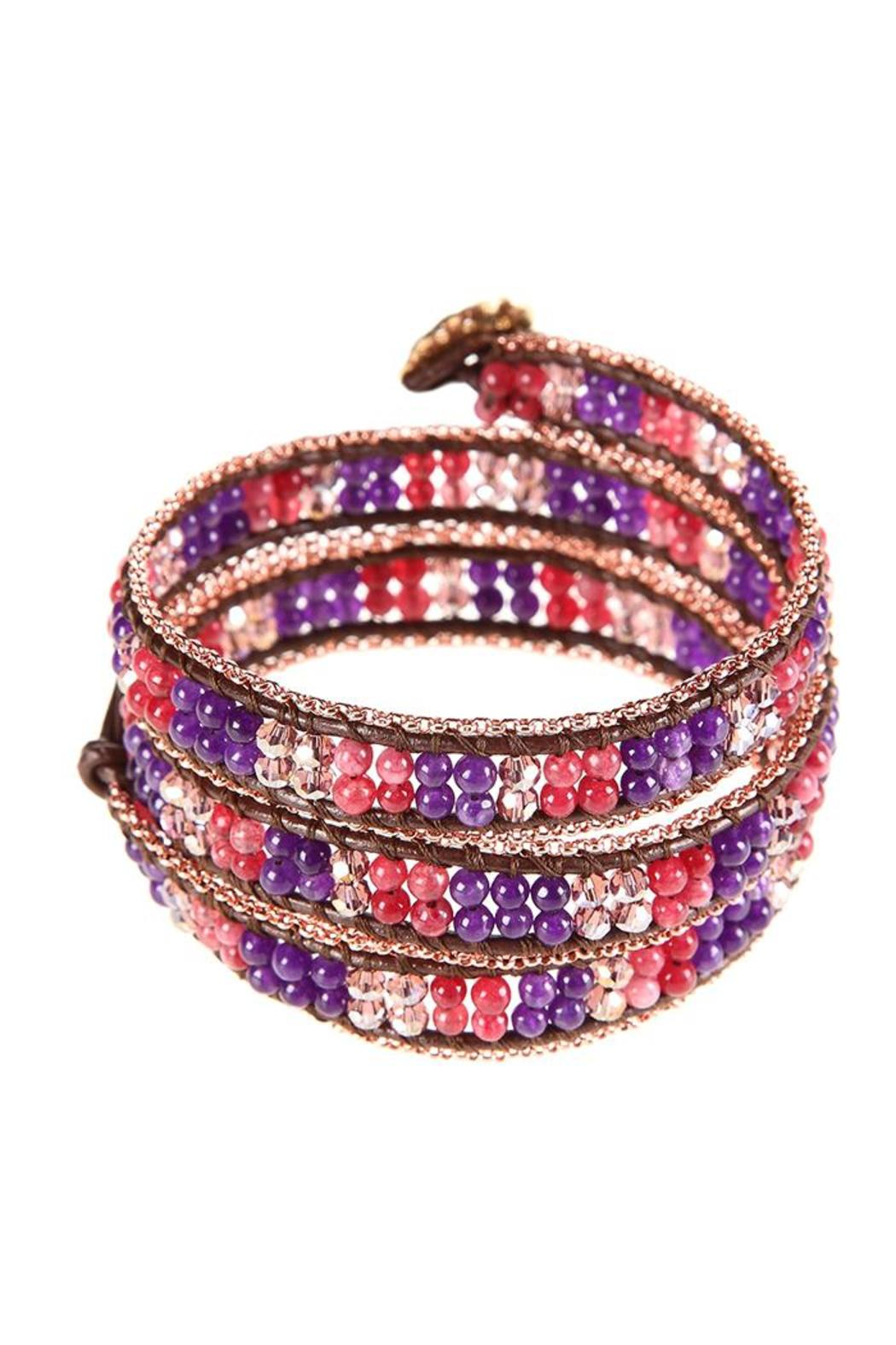 Ananda Chain Wrap Bracelet - Front Cropped Image