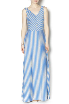 Tulle Striped Maxi Dress - Product List Image
