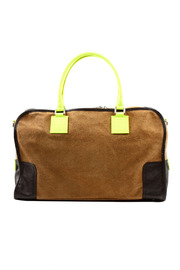 Alex-Max Suede Neon Bag - Front cropped