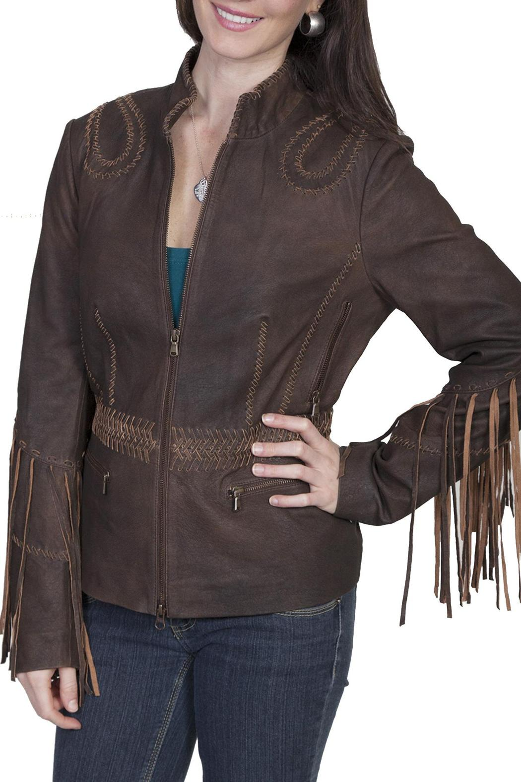 Scully Leather Fringe Leather Jacket - Front Cropped Image