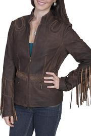 Scully Leather Fringe Leather Jacket - Front cropped