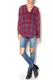 Gentle Fawn West Plaid Blouse - Front full body