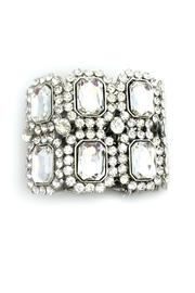 1930s Jewelry | Art Deco Style Jewelry Rhinestone Accented Bracelet $24.00 AT vintagedancer.com