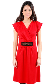 Shoptiques Product: Cross-Over Short-Sleeve Dress