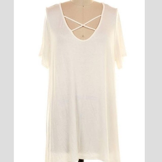 Shoptiques Product: Basic White Tunic Top