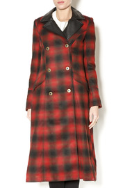 Free People Plaid Coat - Front cropped