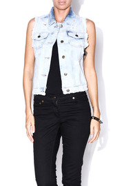 machine Frayed Denim Vest - Front cropped