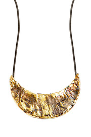 Shoptiques Product: Bronze Crescent Necklace