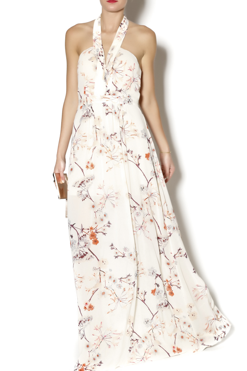 Ark & Co. Floral Halter Maxi - Front Full Image