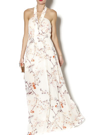 Ark & Co. Floral Halter Maxi - Front full body