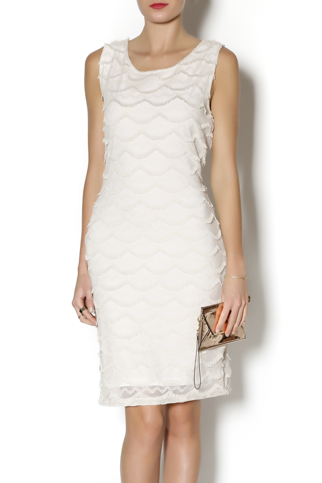 Tribal Beige Dress - Main Image