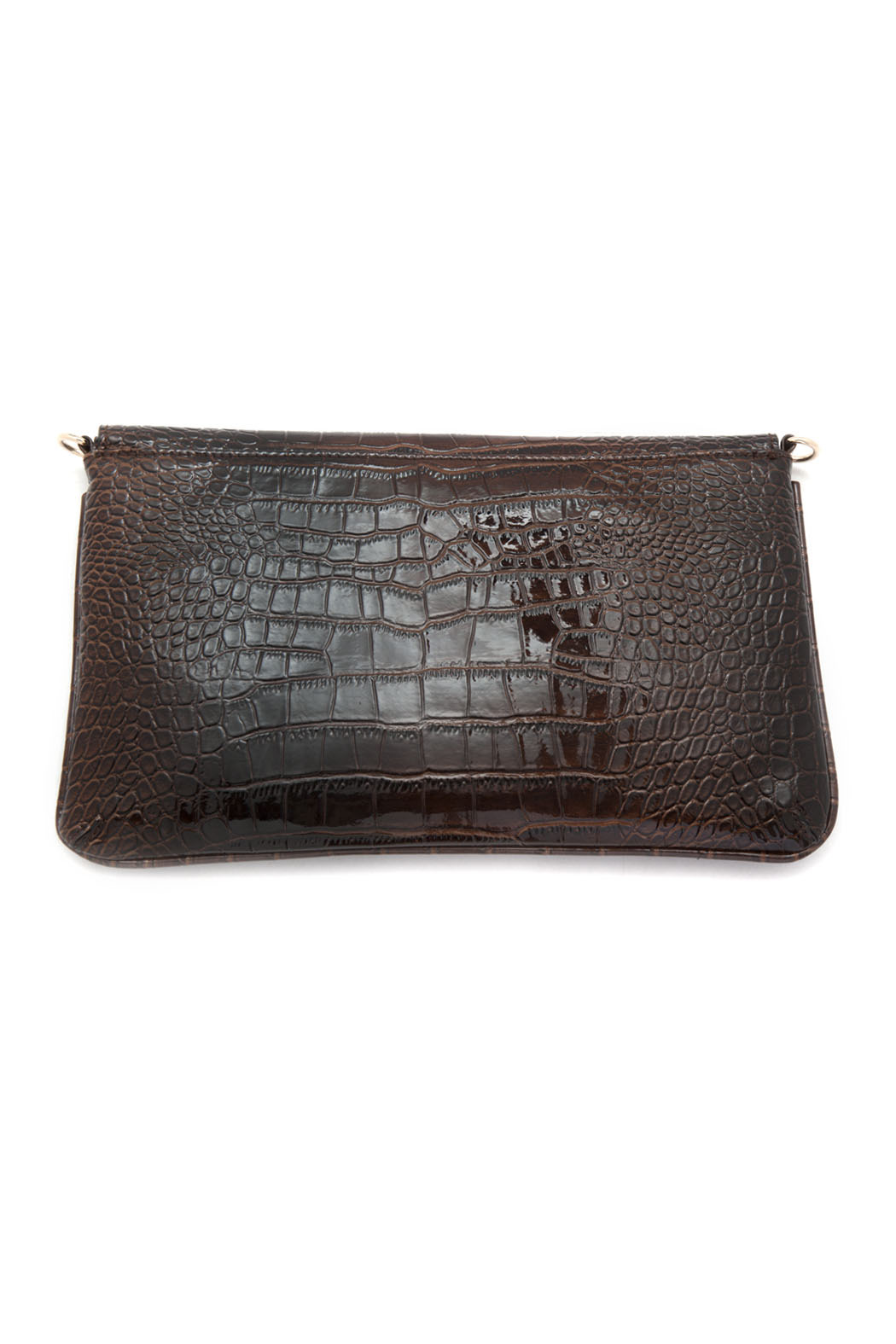 Melie Bianco Patent Envelope Clutch - Front Full Image