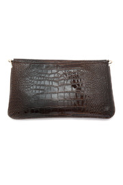 Melie Bianco Patent Envelope Clutch - Front full body