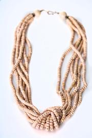 Green House Imports Peach Knot Necklace - Front full body