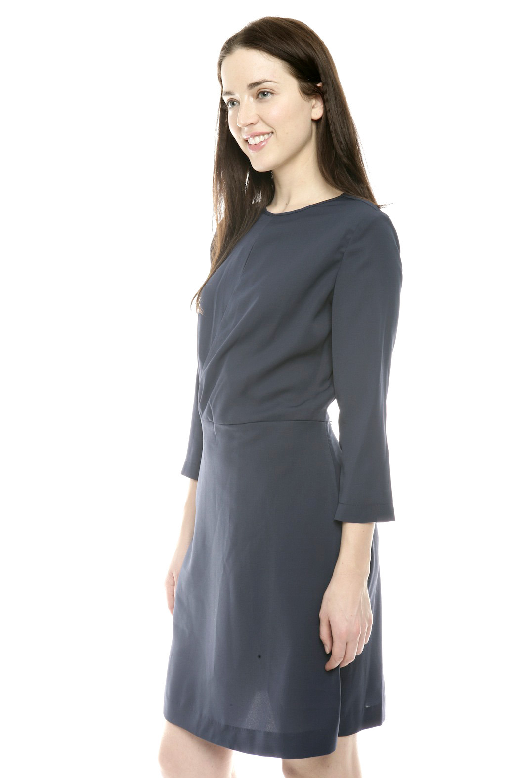 Moon Wrap Front Cocktail Dress - Side Cropped Image