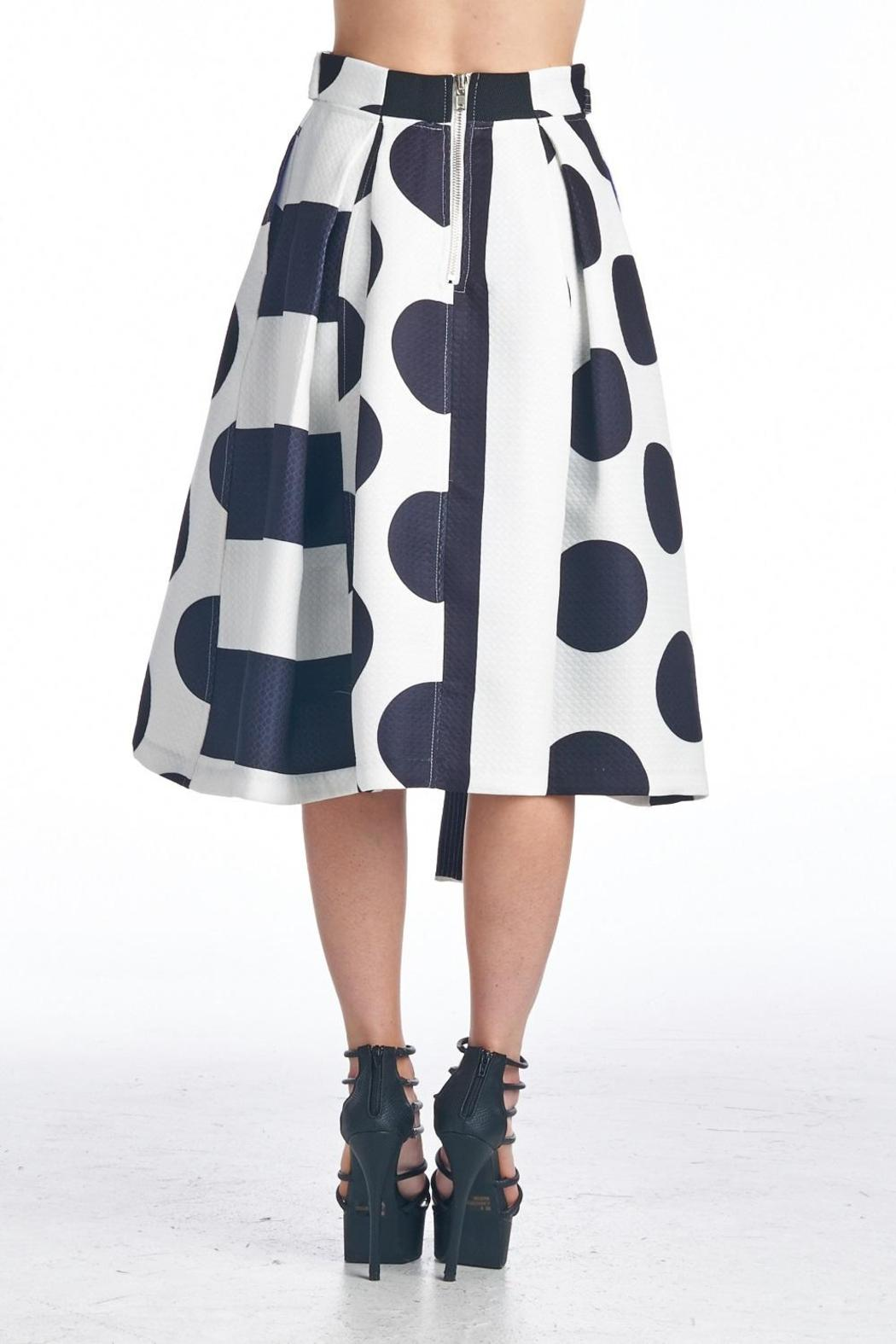 TOV Geometric Swing Skirt - Side Cropped Image