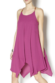 Abby & Taylor Fuschia Handkerchief Dress - Product Mini Image