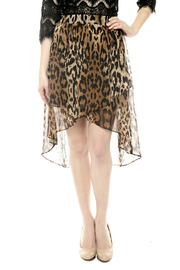 Shoptiques Product: Animal Print Hi-Lo Skirt