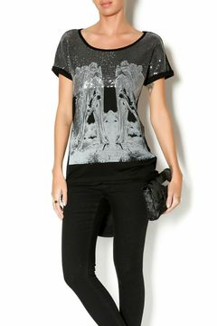 Uldahl Embroidered Black Top - Product List Image