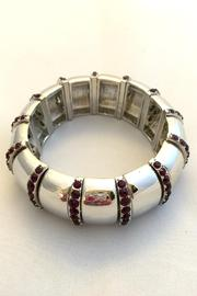 Bling Bling Sisters Silver Stretch Bracelet - Product Mini Image