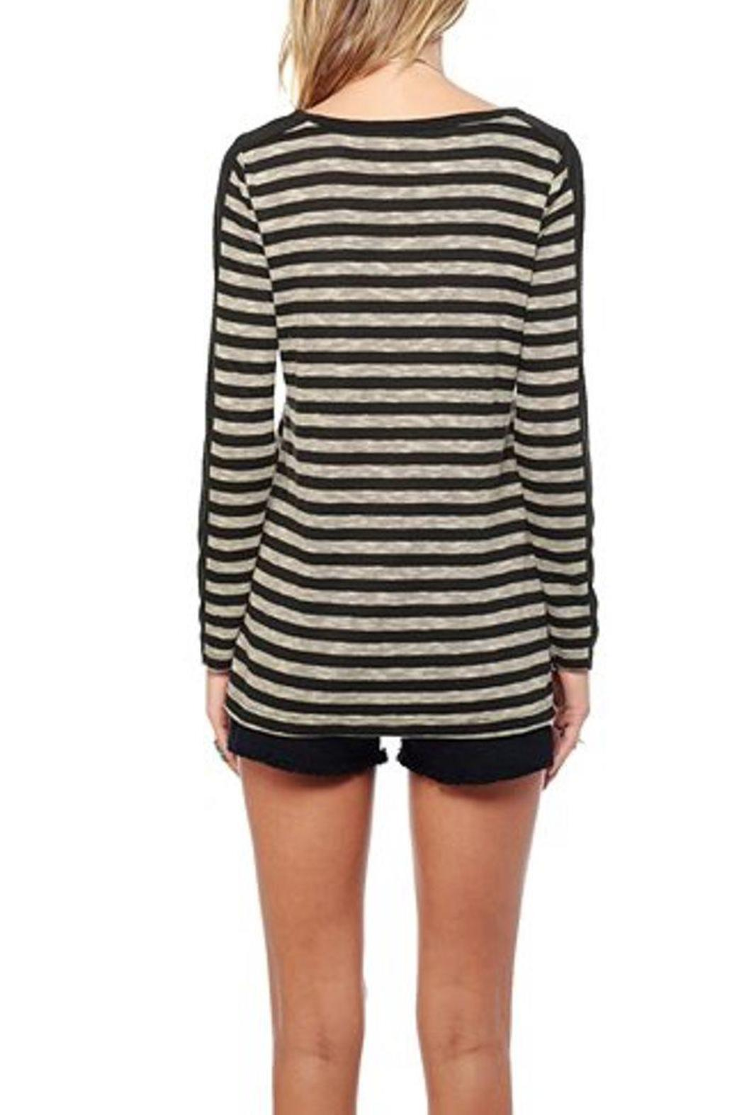 Jack by BB Dakota Fitz Striped Top - Back Cropped Image