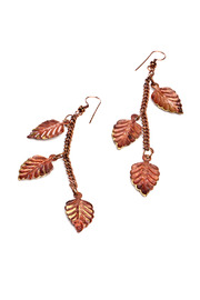 Shoptiques Product: Copper Leaf Earrings