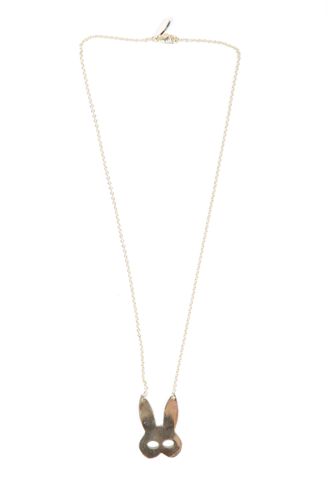 f_licie aussi Gold-Plated Rabbit Mask Necklace - Front Cropped Image