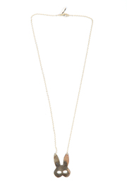 f_licie aussi Gold-Plated Rabbit Mask Necklace - Front cropped