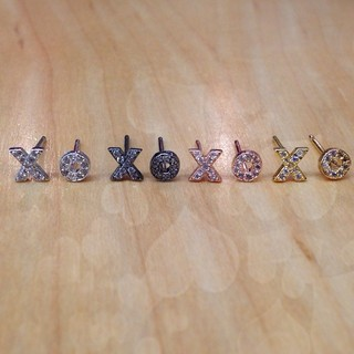 Shoptiques Product: Charcoal Xoxo Studs
