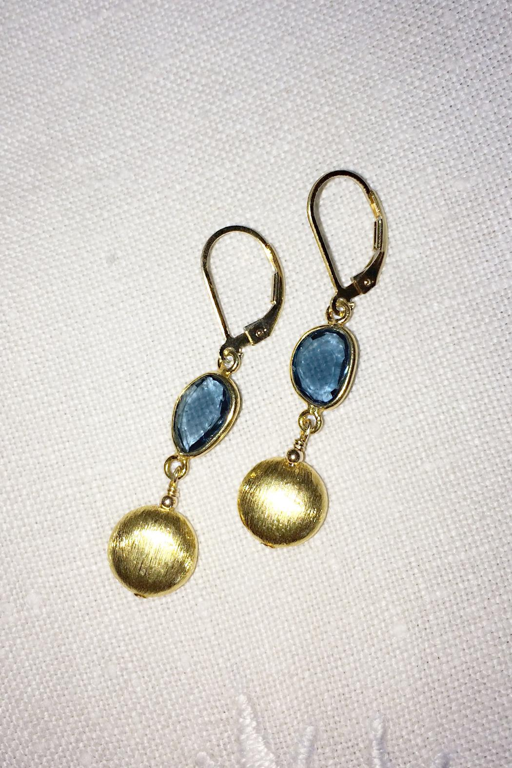 Melinda Lawton Jewelry London Blue Earrings - Front Full Image
