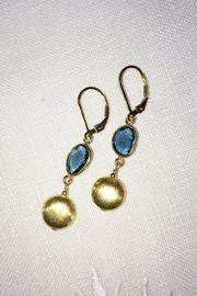 Melinda Lawton Jewelry London Blue Earrings - Front full body
