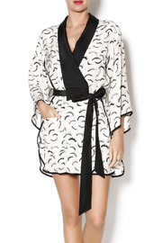 Dear Bowie Eyelash Print Robe - Product Mini Image