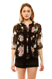 Shoptiques Product: Embroidered Flower Blouse
