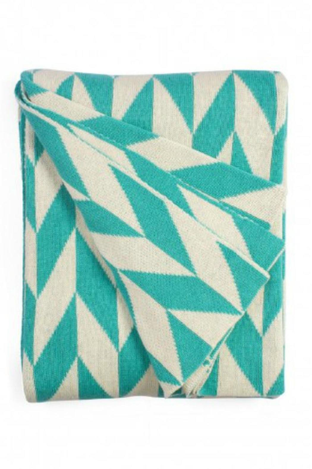 Fab Habitat Turquoise Natural Throw Blanket Front Cropped Image