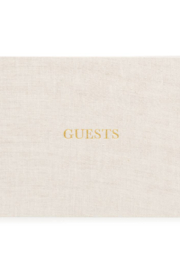 Sugar Paper Fabric Guest Book - Front full body
