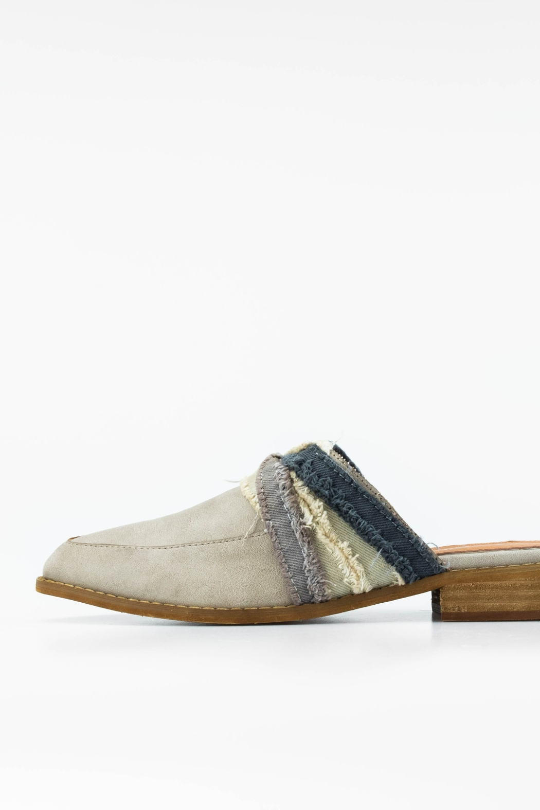 MiiM Fabric Wrapped Vintage Loafer/Mule - Main Image