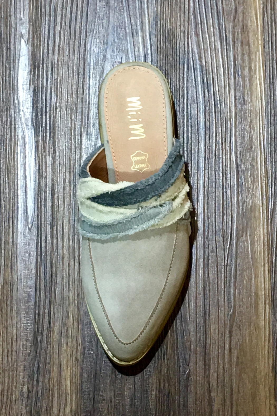MiiM Fabric Wrapped Vintage Loafer/Mule - Front Full Image