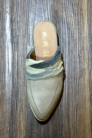 MiiM Fabric Wrapped Vintage Loafer/Mule - Front full body