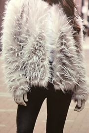Fabulous Furs Ostrich Jacket - Front cropped