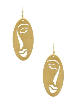 Shoptiques Product: Gold Face Earrings