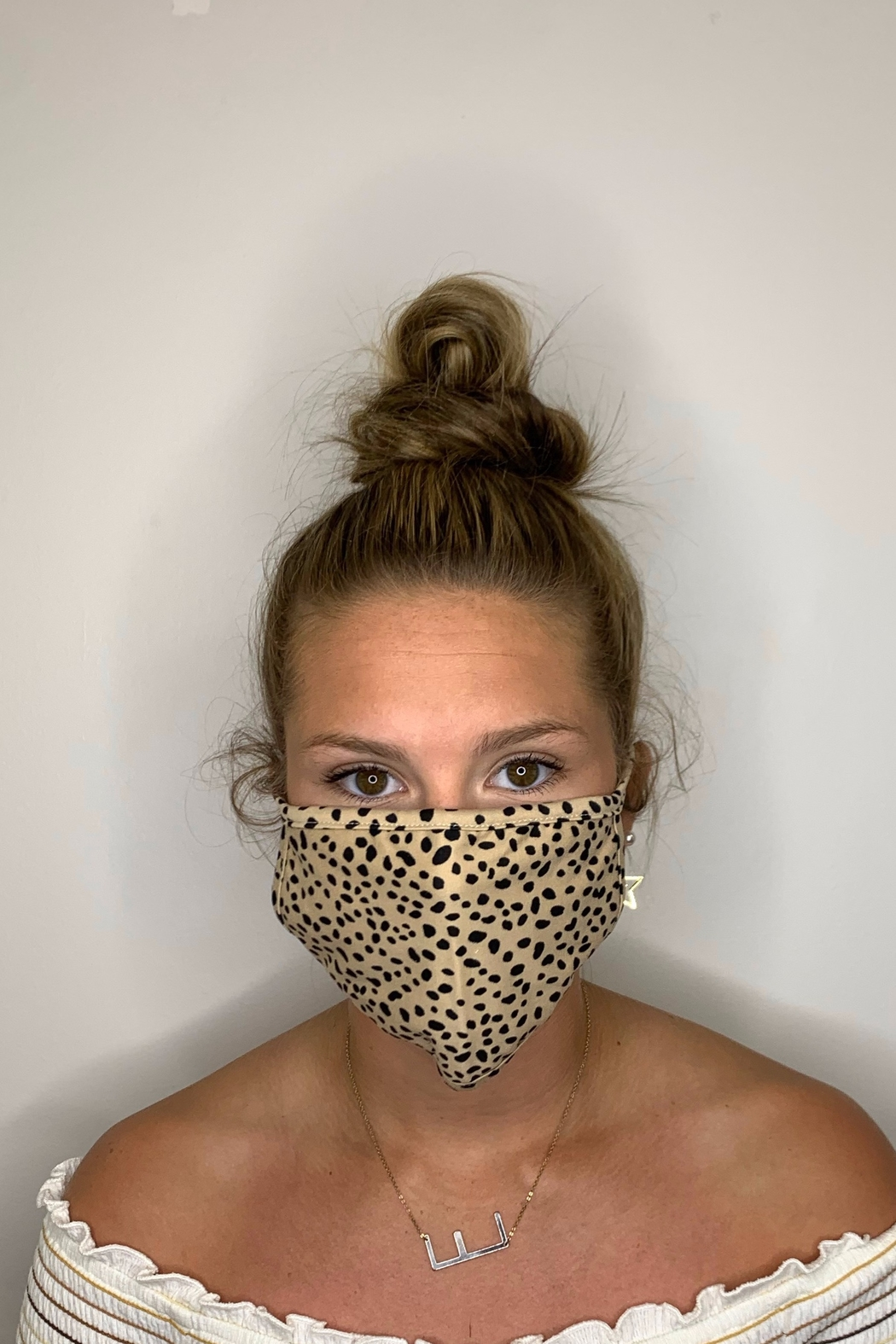 Fame Accessories Face Mask - Front Cropped Image