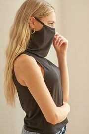 blue blush Face Mask Tank - Front cropped